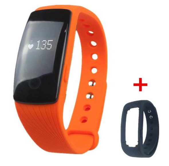 ID107 Bluetooth Smart Bracelet band wearable devices Heart Rate Monitor Wristband Pedometer Fitness Tracker for Android iOS