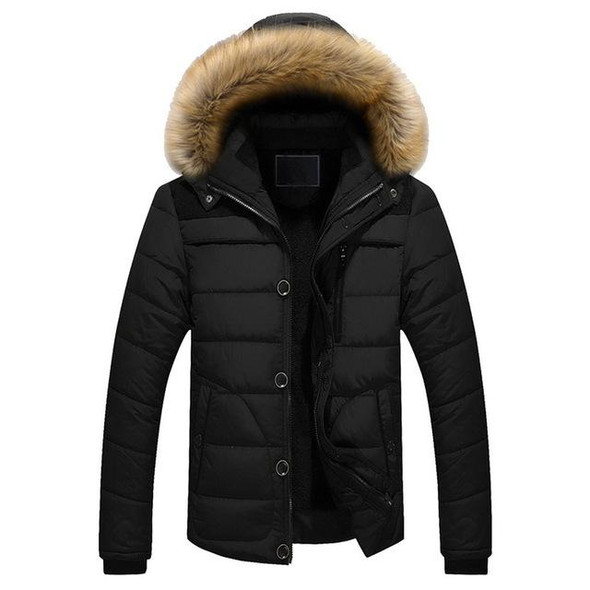 Winter Jacket Men Brand Clothing Fashion Casual Slim Thick Warm Mens Coats Parkas With Hooded Long Overcoats Male Clothes