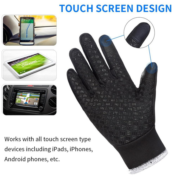 WEST BIKING Winter Bike Gloves Running Ski Thicken Warm Touch Screen Bicycle Gloves Windproof Thermal Full Finger Cycling Gloves