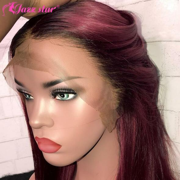 13x4 Straight Burgundy Bob Lace Front Wigs 99J Lace Front Human Hair Wigs