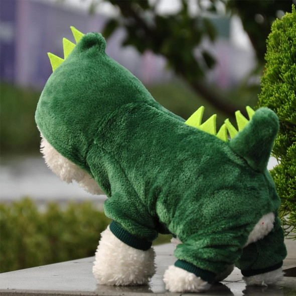 Pet Dog Cat Clothes Cute Funny Dinosaur Costumes Coat Winter Warm Fleece Clothing For Small Dogs Kitten Hoodie Puppy Dog Clothe
