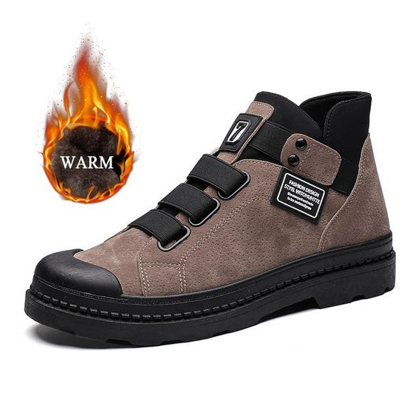 Men Casual High Top Sneakers Shoes/Anti-Slip Ankle Boots