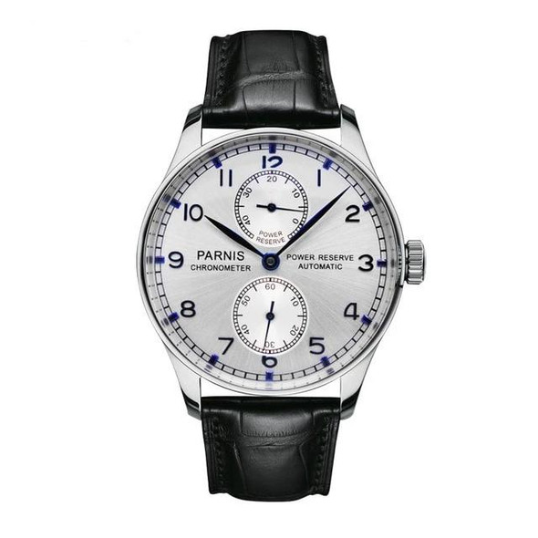 Polished 43mm Power Reserve Automatic Watch