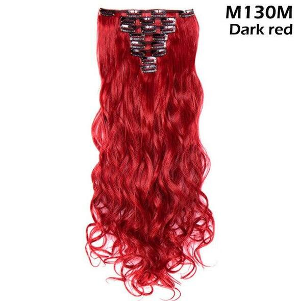 Natural Hairpieces Synthetic clip in hair for women