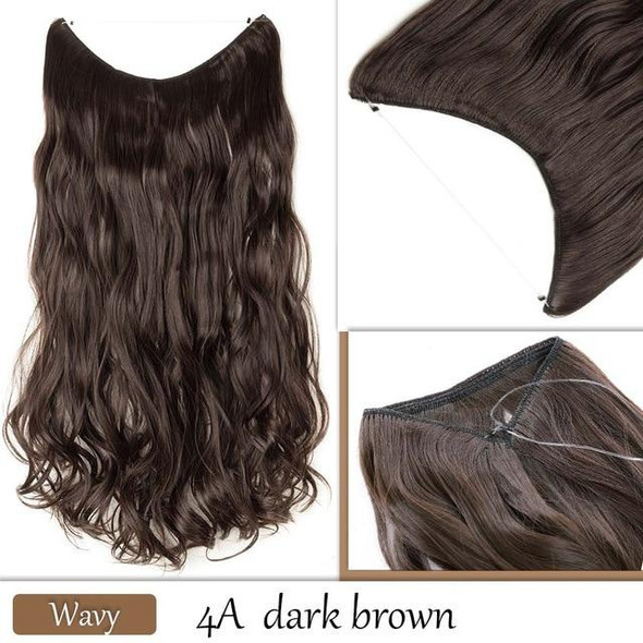 Women long invisible wire hair extension