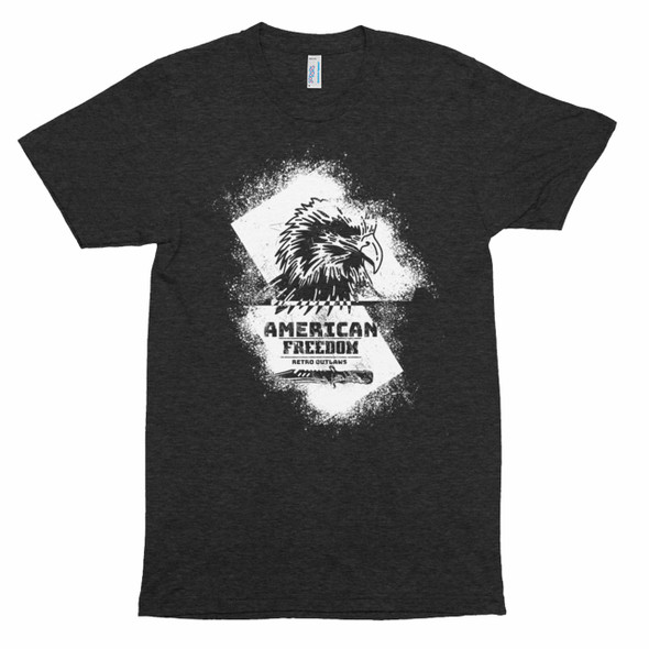 American Freedom Men's Motorcycle Premium Two Sided Shirt