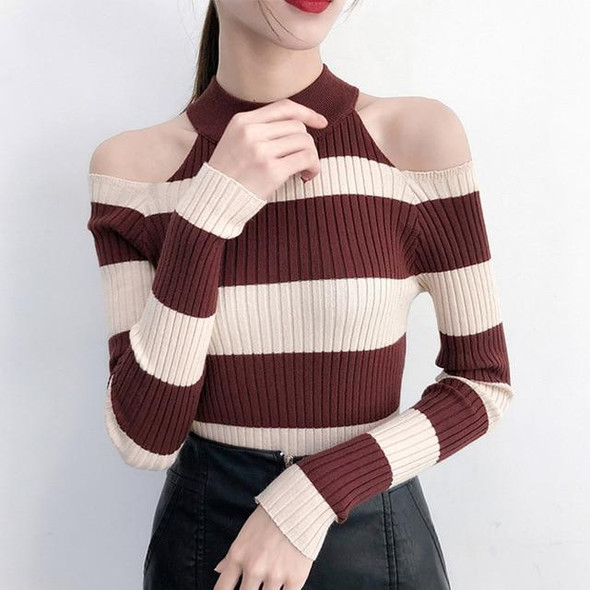 Long Neck Sweater Sweaters Striped