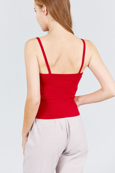 Red Snap Button Design Camisole