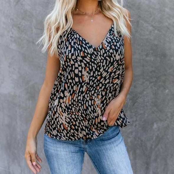 V-neck Women Camis Sexy Print Camisole Tank Tops