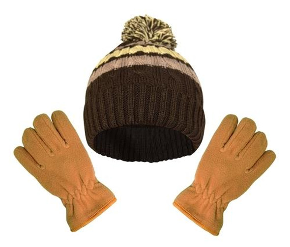 Warm & Cozy 2 Pack Kid's Fleece Gloves with Elastic Wrist Band