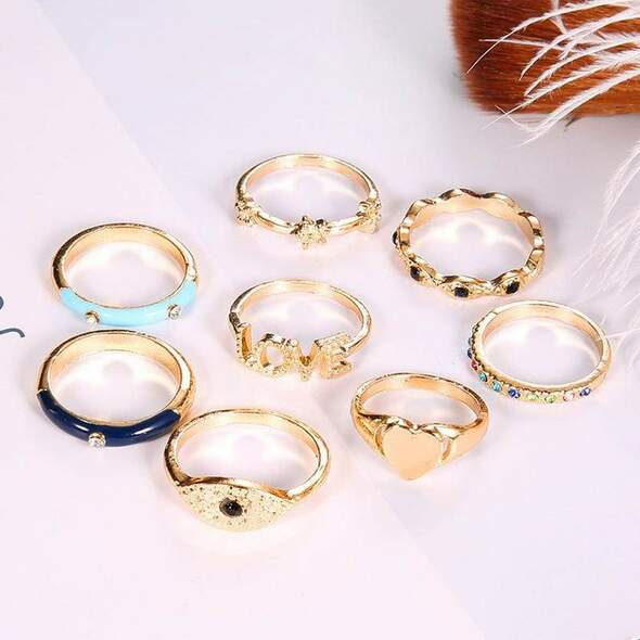 Bohemian Punk Party Knuckle Rings