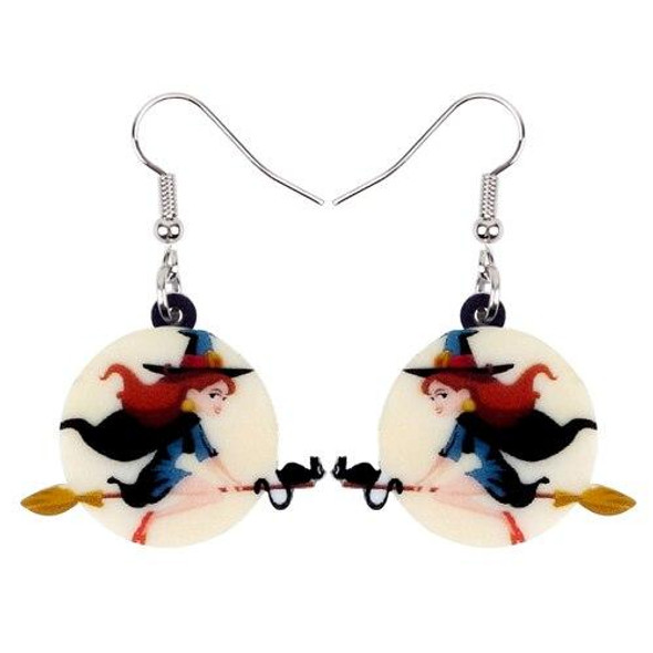 FREE OFFER Magical Broomstick Witch Halloween Earrings