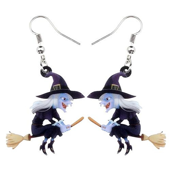 FREE OFFER Broomstick Witch Halloween Earrings
