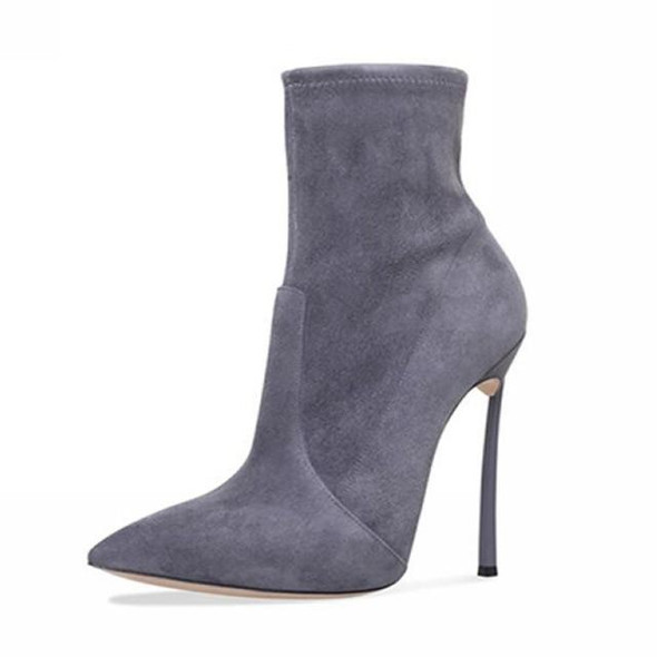Women Boots Stretch Fabric Suede Ankle Boots For Women Pointed Toe High Heel Shoes Woman Autumn Winter Boots high heels Boots