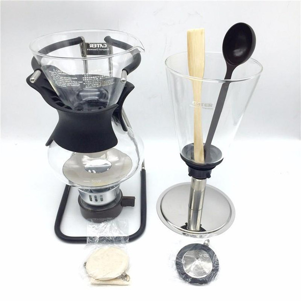 5 cup 600ml new brand siphon coffee pot / glass siphon pot filter coffee Syphon Applicable induction cooker