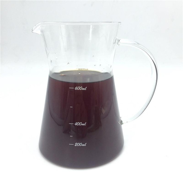 600ML glass pot + stainless steel coffee filter / filters coffee pot brewing tool glass measuring cup teapot Coffee ware