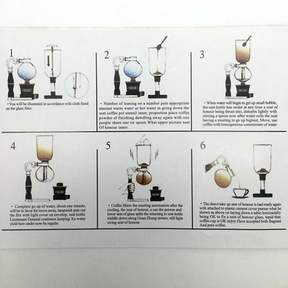 5 cups The new fashion siphon coffee maker / high quality glass syphon strainer coffee pot Siphon pot filter coffee tool BT-5
