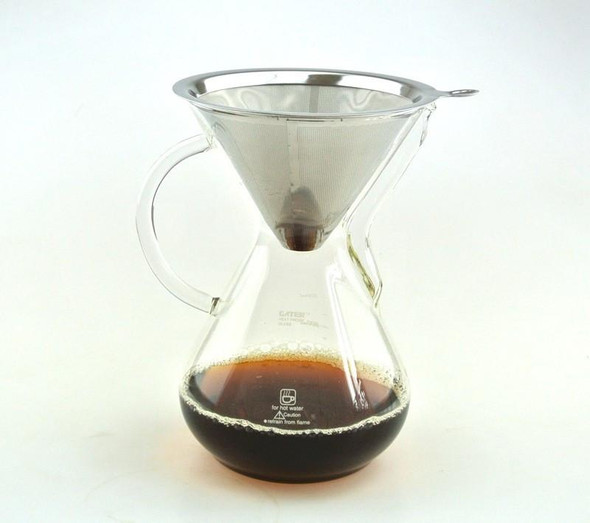 New Arrival  CHEMEX Style Coffee Brewer 1000ML Espresso Coffee Makers Coffee Dripper with Metal Basket