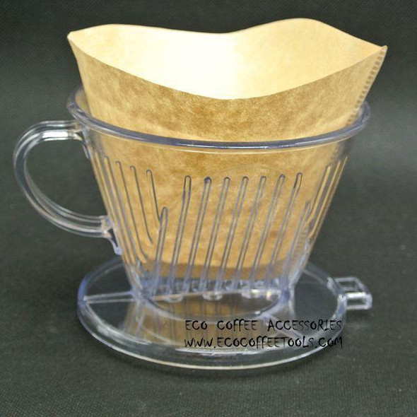 Free Shipping Hario Style V60 Coffee Brewer Drip Coffee filter cups with 40pcs filters