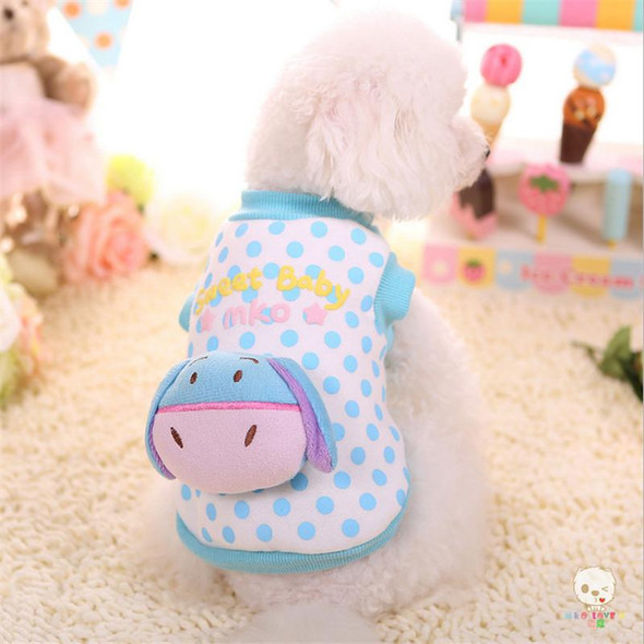 MKO Small Dog Clothes Fleece Dog Coat for Yorkshire Bichon Chihuahua Vocal Cute Puppy Clothes Cartoon Pet Apparel Dog Hoodies
