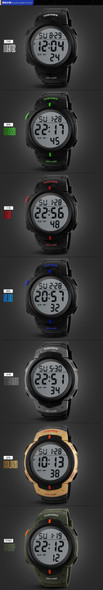 Sports Watches Dive 50m Digital LED Military Watch Men Fashion