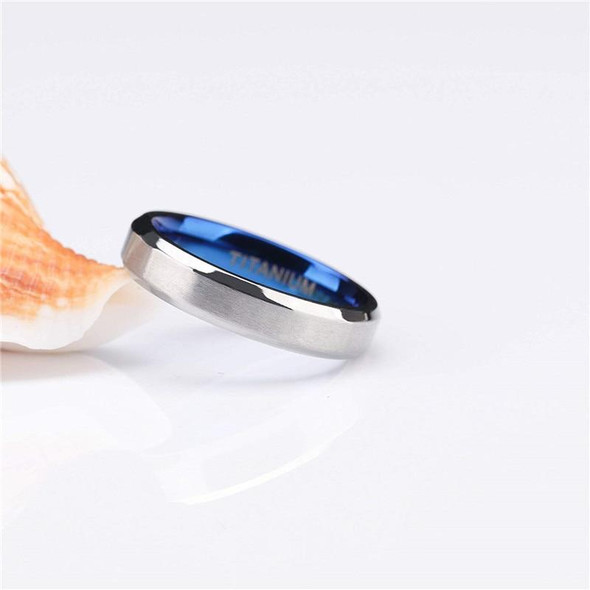 Classic Blue and Silver Plated Titanium Fashion Wedding Ring