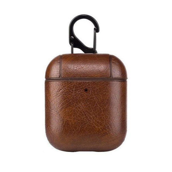Brown Leather AirPods Case Shock Proof Cover