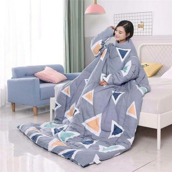 Winter Lazy Cape Cloak Nap Blanket Dormitory Mantle Covered Blanket for Sofa Bed