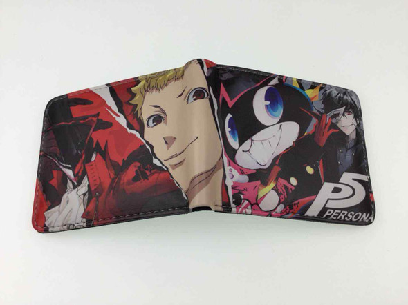 Anime Persona 5 P5 Short Wallet Zipper Coins Cards Holder