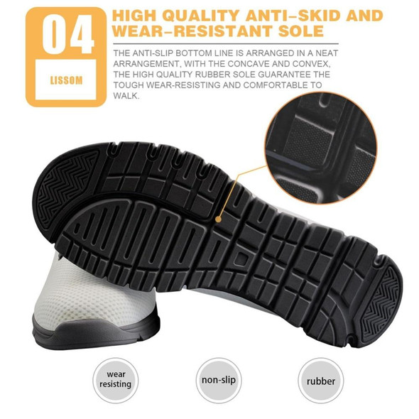 Breathable Barber Print Sneakers for Men
