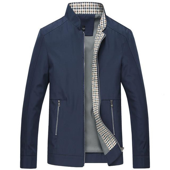 Solid Color Stand Collar Male Bomber Jackets