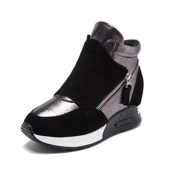 Suede Leather Women Winter Shoes