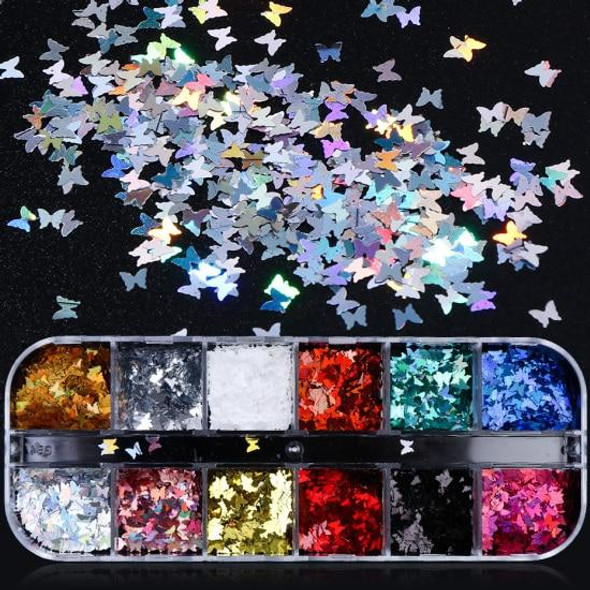 1 Set Mixed Color 3D Ultrathin Sequins Nail Glitter Flakes