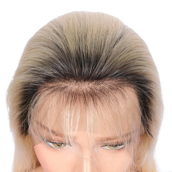"""Grace (Silky Straight 1B/613 Blonde Ombre Roots GLUELESS FULL LACE 100% Remy Human Hair Wig 10""""-26"""")"""
