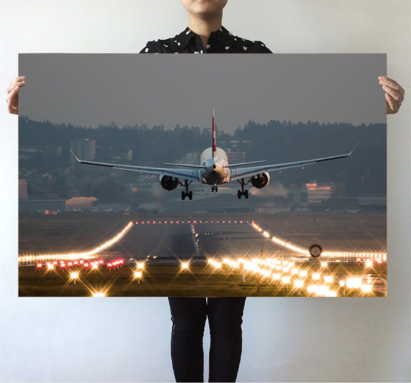 Magnificent Airplane Landing Printed Posters