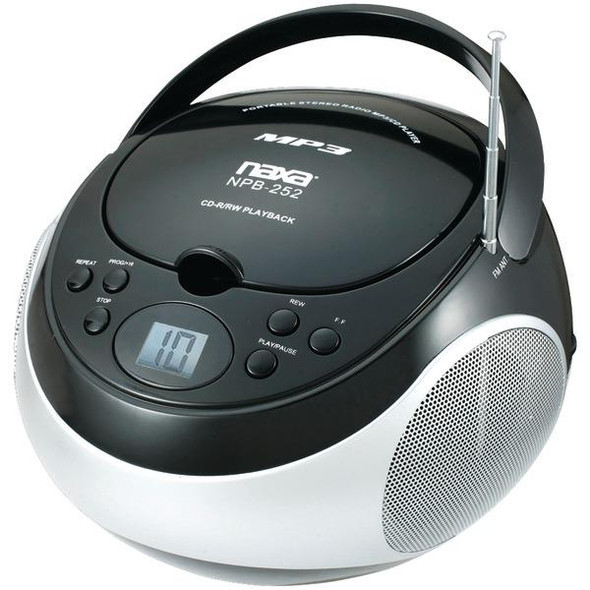 Portable CD-MP3 Players with AM-FM Stereo (Black)