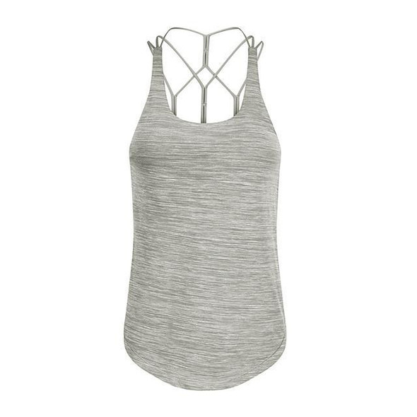 Women's Yoga Built In Bra Tank Open Back Strappy Solid Color White Black Pink Green Blue Nylon Running Fitness Gym Workout Top Sport Activewear Breathable Quick Dry Comfortable 4 Way Stretch Moisture