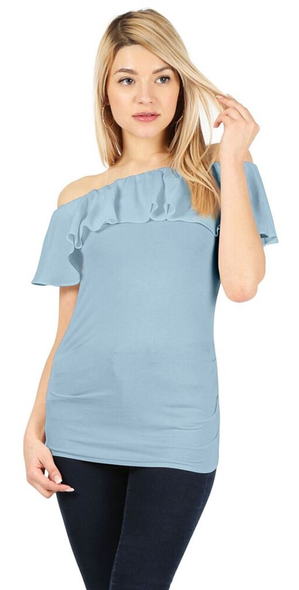 Flaunt the Fit Ruffle Top