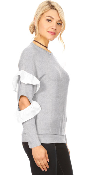 Ruffle Reality Pullover Top