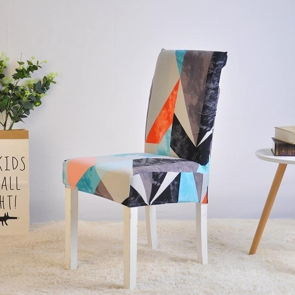 Multi color geometrical dining room seat covers