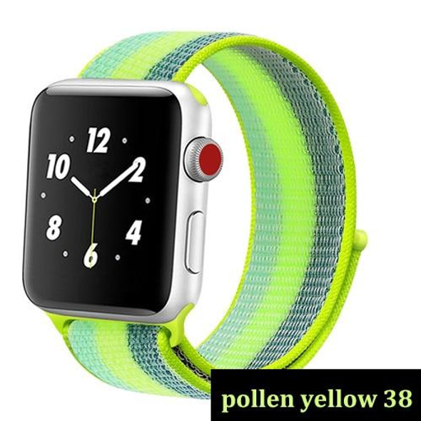Strap for apple watch band 44mm 40mm Woven Nylon Loop band iwatch series 5 4 3 band 42mm 38mm belt apple watch band Accessories