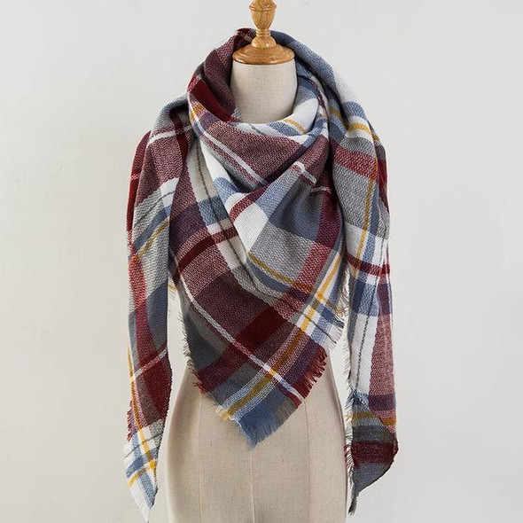 Plaid Cashmere Scarves and Wraps for Women
