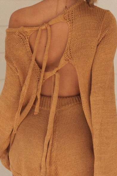 Tie-Back Knitted Lounge Set