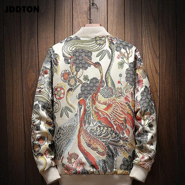Embroidery Bomber Jacket Loose