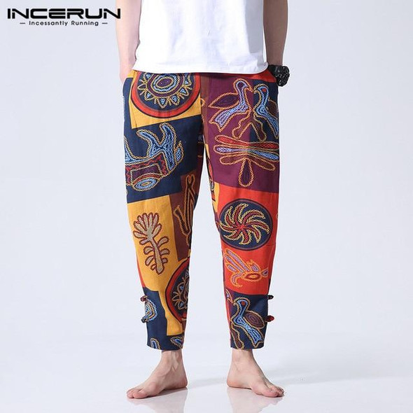 Ethnic Style Cotton Printed Loose Pants