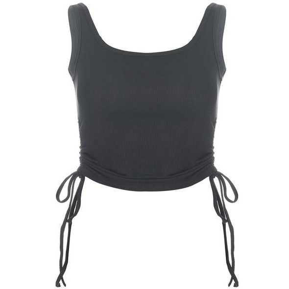 Ruched Sleeveless Tank Top