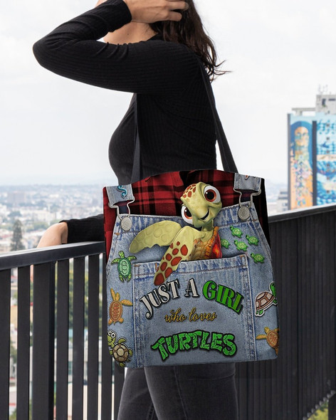 Just A Girl Who Lvoes Turtles Tote Bag