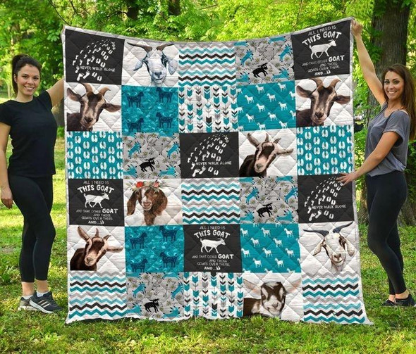 Love Goat Pattern 3D Printed Gift Quilt