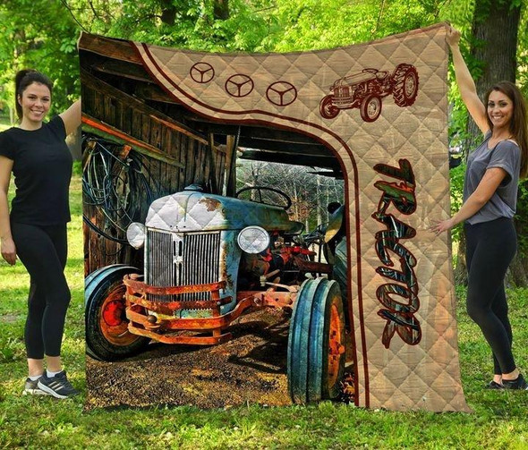 Tractor Art Layout 3D Printed Gift Quilt