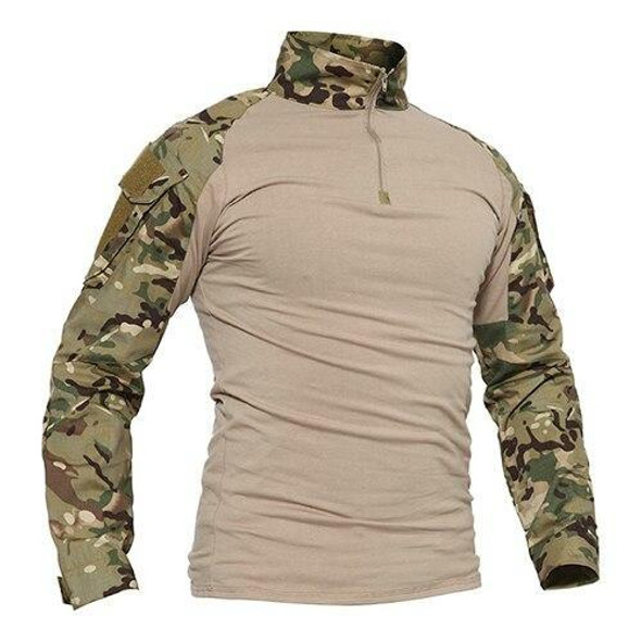 T-shirts Men Camouflage Tactical Combat T-shirts Long Sleeve Military